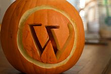 Wordpress Logo Pumpkin